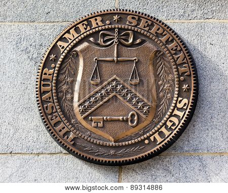 Early Seal Sign Symbol Us Treasury Department Washington Dc