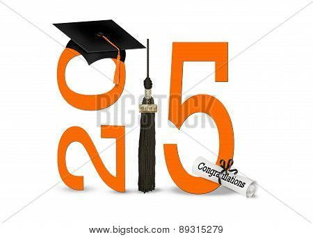 Black and Orange 2015 Graduation