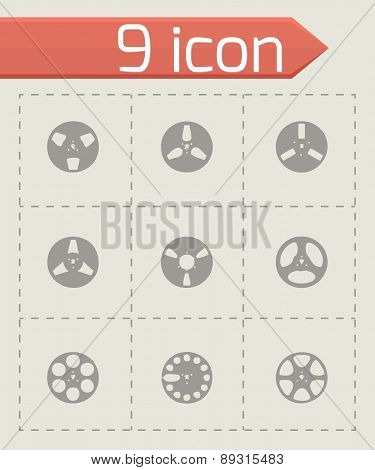 Vector ribbon icon set