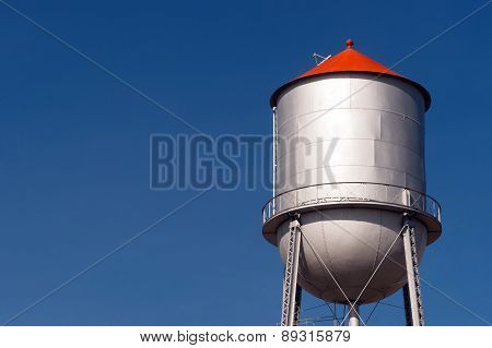 Small Town Water Tower Utilitiy Infrastructure Storage Reservoir