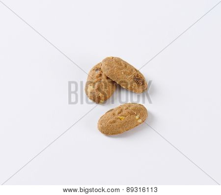 three cereal and chocolate mini cookies