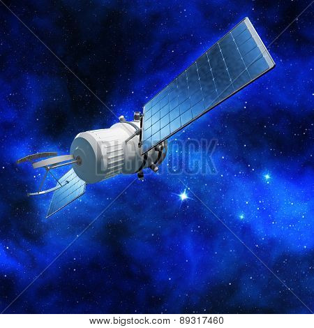 satellite in star field