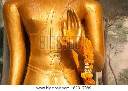 Garland On Hand Buddha.