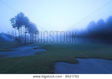 Golf Course At Dawn