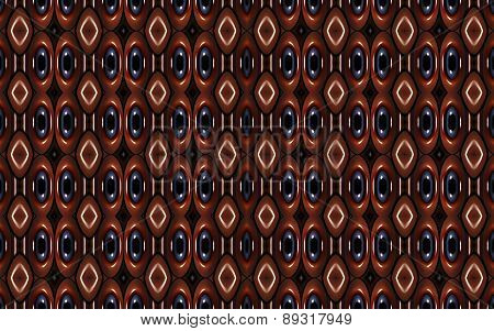 Geometric Futuristic Colorful Pattern in muted red and blue tones
