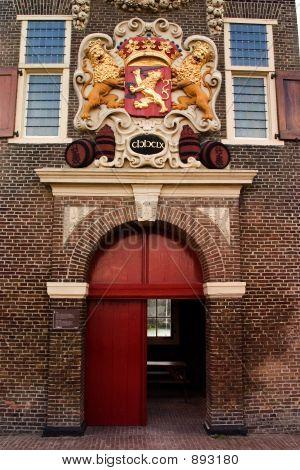 Lion Crest Over Entrance