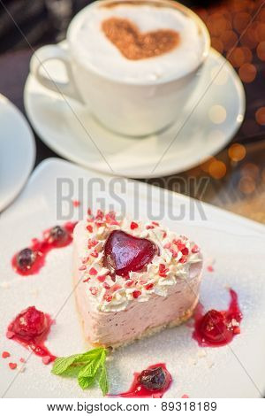 tasty heart shaped valentine cake