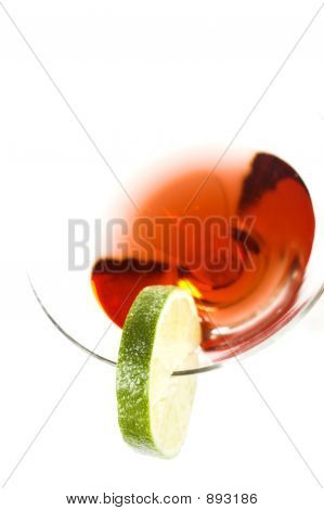 Cocktail With Green Lemon