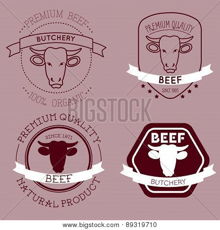 Butcher Cow Head Labels