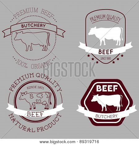 Butcher Cow Labels