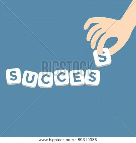 Success concept with the final piece alphabet