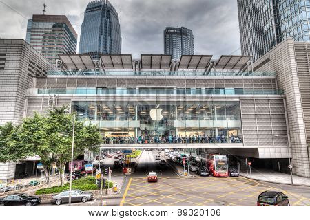 Hdr Rendering Of Apple Store In Hong Kong