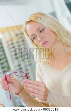 Picking out a new pair of glasses
