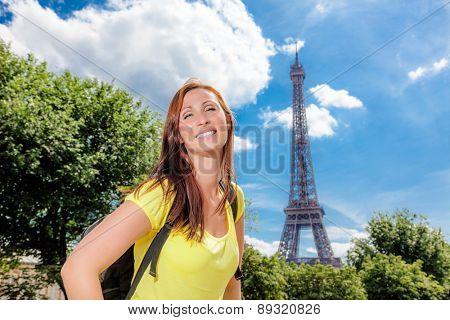 france visiting female tourist backpacker