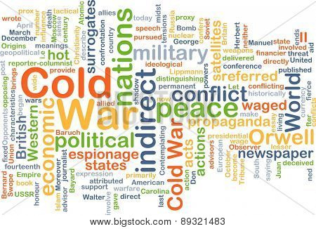 Background concept wordcloud illustration of cold war