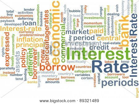 Background concept wordcloud illustration of interest rate