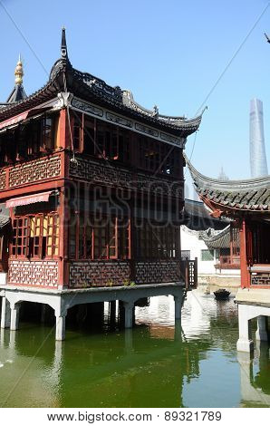 Chinese style architecture in Shanghai