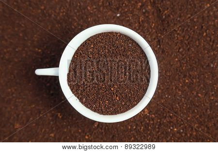 Ground Coffee In A Cup