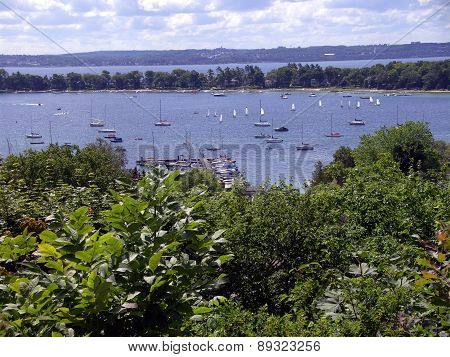Sailboats in Harbor Springs