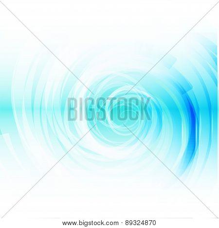 Blue Spiral on white Background vector