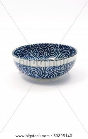 Empty Blue white Bowl