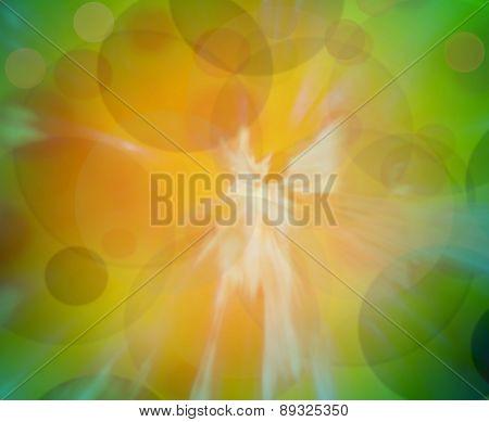 Green And Orange Blur Gradient Background