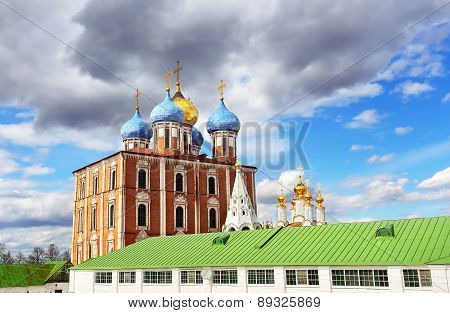 Domes Of The Ortodox Cathedral