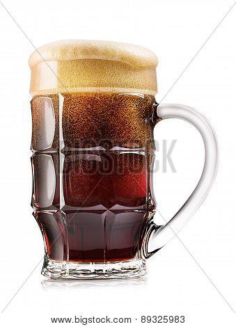 Faceted Mug Of Dark Beer