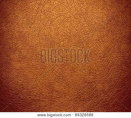 Bronze color leather texture background