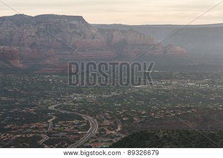 Aerial View Of Sedona Arizona