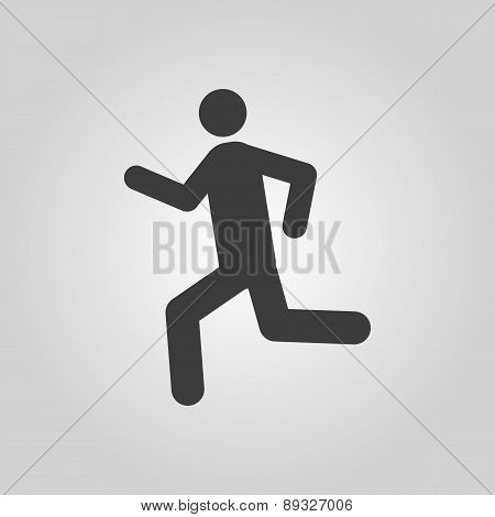 The Man Running Icon. Run Symbol. Flat