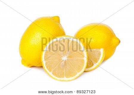 Lemon isolate on white background
