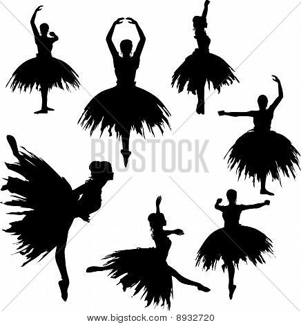 Classical Ballerina Silhouettes