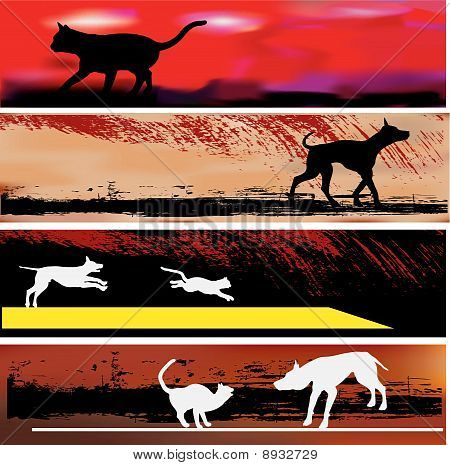 Cat and Dog Web Banner Templates