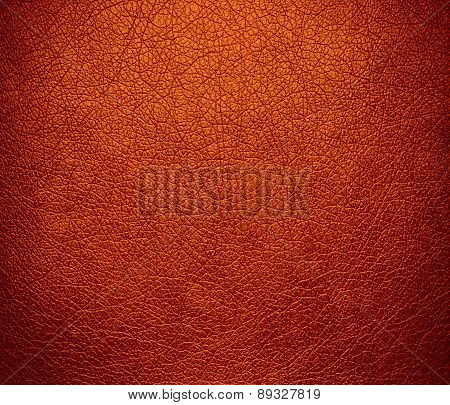 Burnt orange color leather texture background