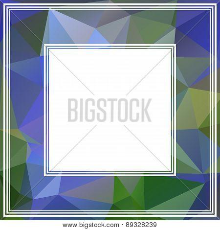 Blue Polygonal Border