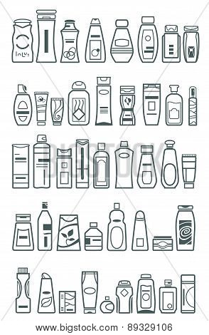 Cosmetic Products , Vector Illustration