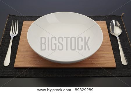 Plate With Spoon And Knife