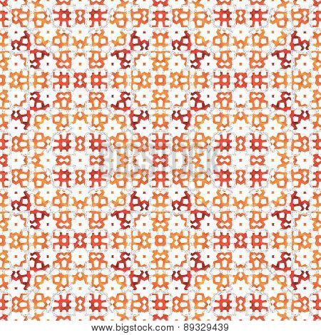 Retro orange red ornamental pattern