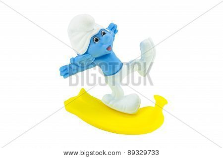 Clumsy Smurf Slip On A Banana Peel