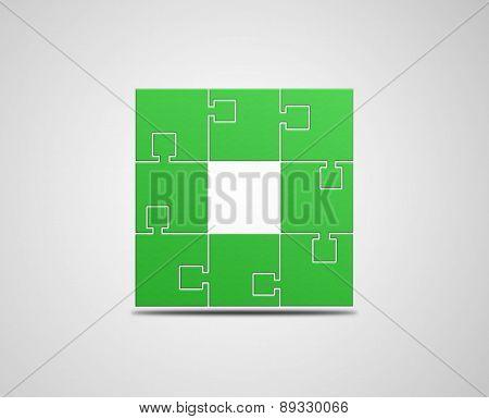 Green Puzzle Illustration