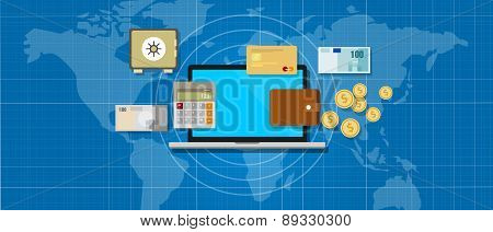 internet banking application money