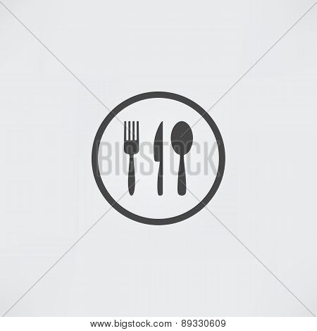 Kitchen Set Vector. Cutlery Symbols