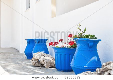 National Greek White-blue Decor.