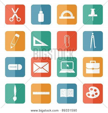 Stationery Icons.