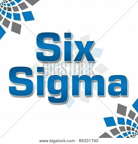 Six Sigma Blue Grey Squares Elements Squares