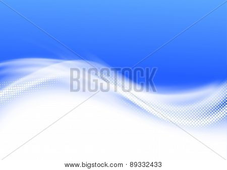 Modern Blue Swoosh Wave Border Background
