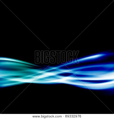 Blue Energy Swoosh Speed Modern Wave Line