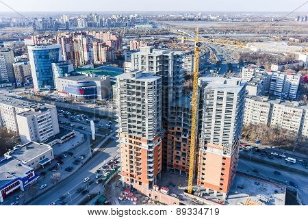 Construction of residential house in Tyumen