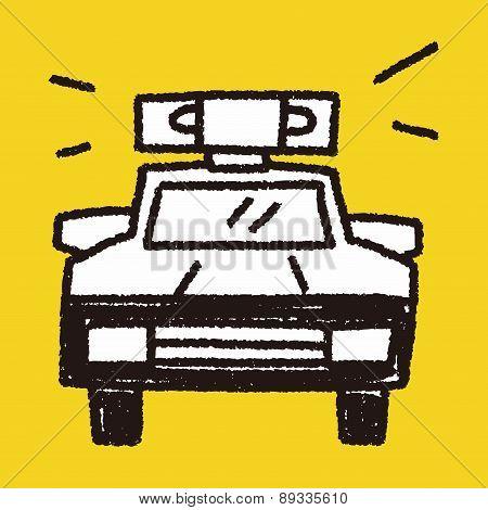 Doodle Police Car
